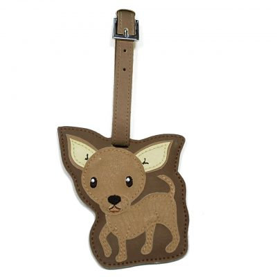 Chihuahua Dog Luggage Tag Briefcase Gym Backpack Travel ID