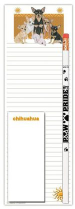 Chihuahua Dog Notepads To Do List Pad Pencil Gift Set