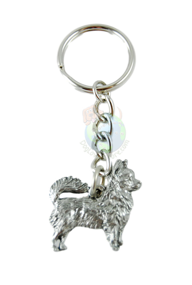 Chihuahua Longhair Pewter Keychain
