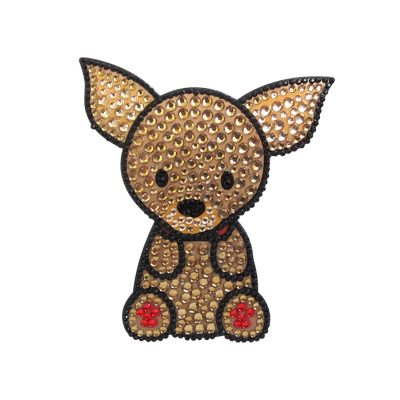 Chihuahua Dog Rhinestone Glitter Jewel Phone Ipod Iphone Sticker Decal 1
