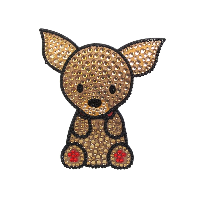 Chihuahua Dog Rhinestone Glitter Jewel Phone Ipod Iphone Sticker Decal