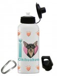Chihuahua Water Bottle Stainless Steel 20 oz