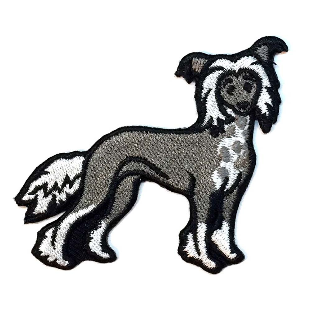 Chinese Crested Iron on Embroidered Patch