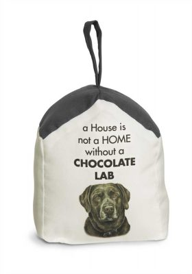 Chocolate Lab Door Stopper 5 X 6 In. 2 lbs. - A House is Not a Home