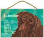 Chocolate Lab Characteristics Indoor Sign