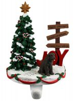 Chocolate Lab Stocking Holder Hanger