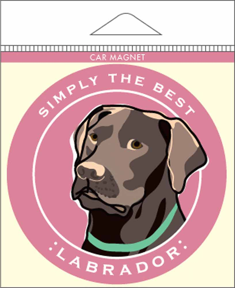Chocolate Labrador Car Magnet 4x4""