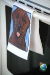 Chocolate Labrador Kitchen Hand Towel