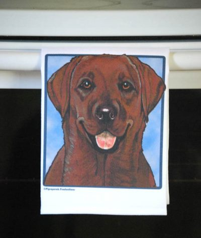 Chocolate Labrador Kitchen Hand Towel 2