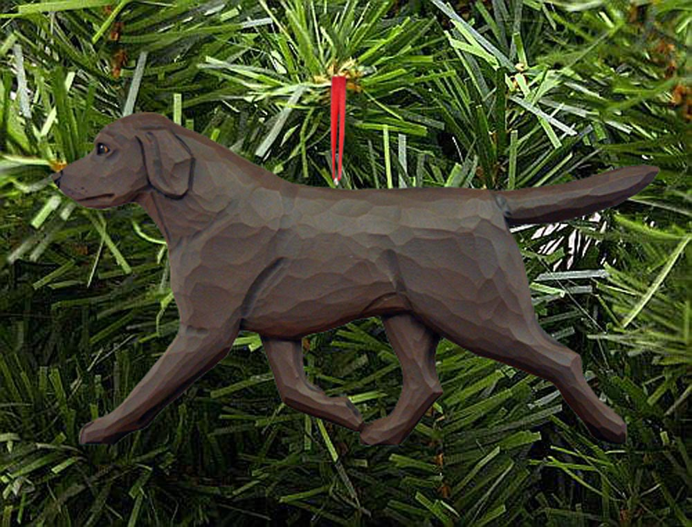 Chocolate Labrador Ornament