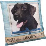 Chocolate Labrador Pillow 16×16 Polyester 1