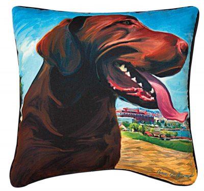 Chocolate Labrador Artistic Throw Pillow 18X18″ 1
