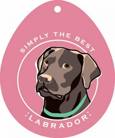 Chocolate Labrador Sticker 4×4″ 1