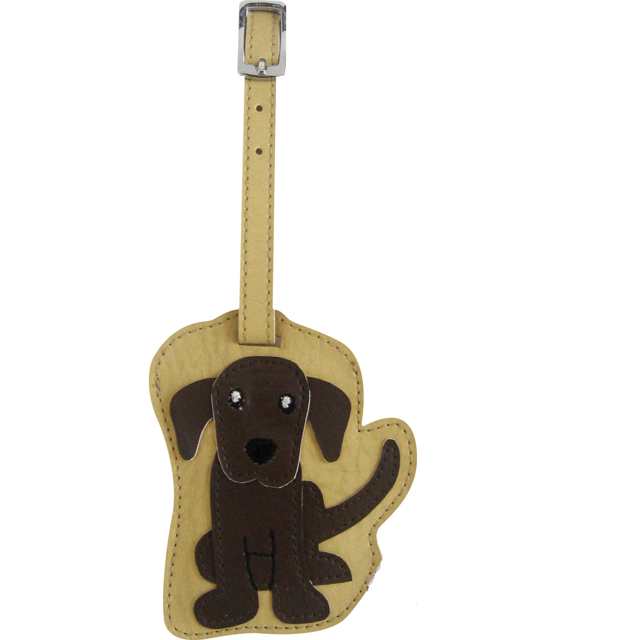 Chocolate Labrador Dog Luggage Tag Briefcase Gym Backpack Travel ID