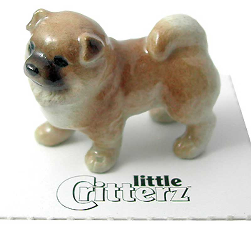 Chow Chow Hand Painted Porcelain Miniature Figurine