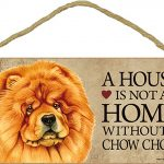 Chow Chow Wood Dog Wall Plaque Photo Display 5 x 10 – A House Is Not A Home + Bonus Coaster 1