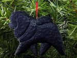 Chow Chow Tree Ornament Black