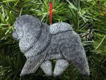 Chow Chow Tree Ornament Blue
