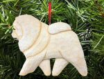 Chow Chow Tree Ornament Cream