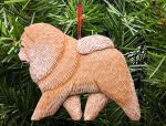 Chow Chow Tree Ornament Tan/Red