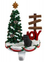 Chow Chow Stocking Holder Hanger Black