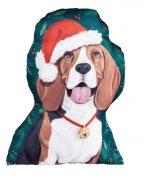 Beagle Christmas Pillow