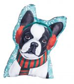 Boston Terrier Christmas Pillow
