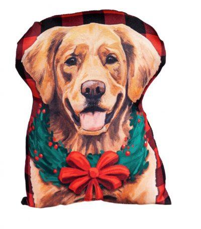 Golden Retriever Christmas Pillow