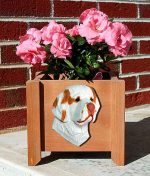 Clumber Spaniel Planter Flower Pot Orange