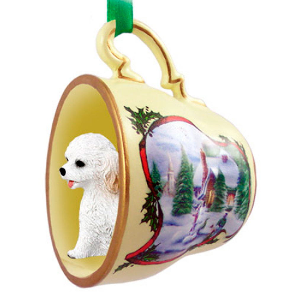 Cockapoo Ornament Teacup White