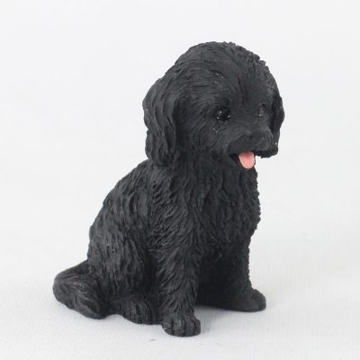 Cockapoo Black Mini Dog Figurine