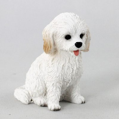 Cockapoo White Mini Dog Figurine