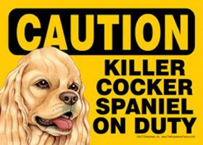 Cocker Caution Sign