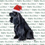 Cocker Spaniel Dog Coasters Christmas Themed Black