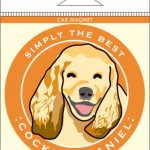 Cocker Spaniel Car Magnet 4×4″ 1