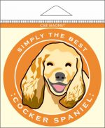 Cocker Spaniel Car Magnet 4x4""