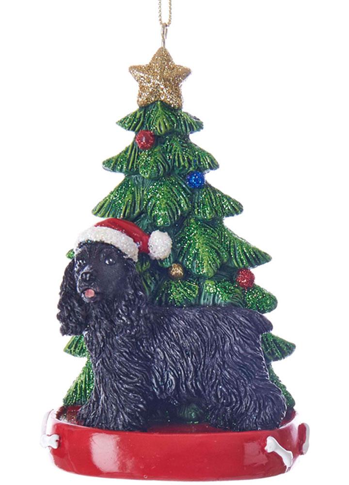 Cocker Spaniel Christmas Tree Ornament Black
