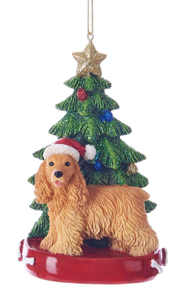 Cocker Spaniel Christmas Tree Ornament Blonde