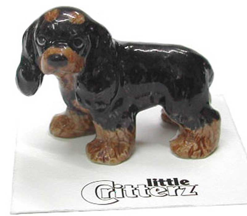 Cocker Spaniel Hand Painted Porcelain Miniature Figurine