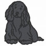 cocker-spaniel-embroidered-iron-on-patch-black