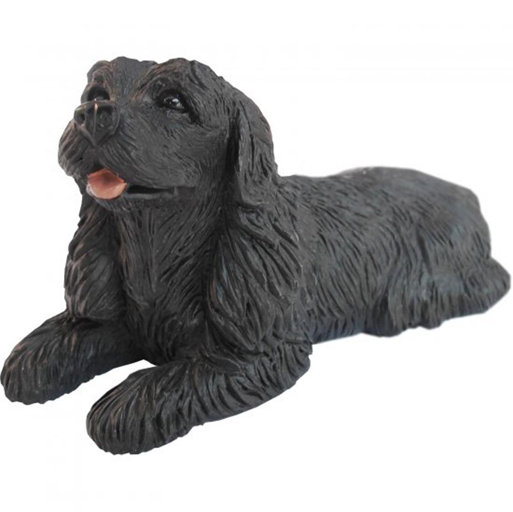 Cocker Spaniel Figurine Hand Painted Black - Sandicast