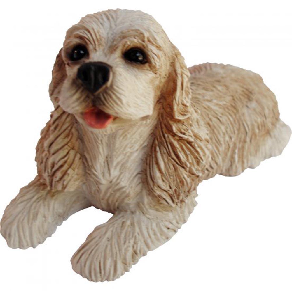 Cocker Spaniel Figurine Hand Painted Blonde - Sandicast