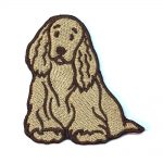 Cocker Spaniel Iron on Embroidered Patch Blonde