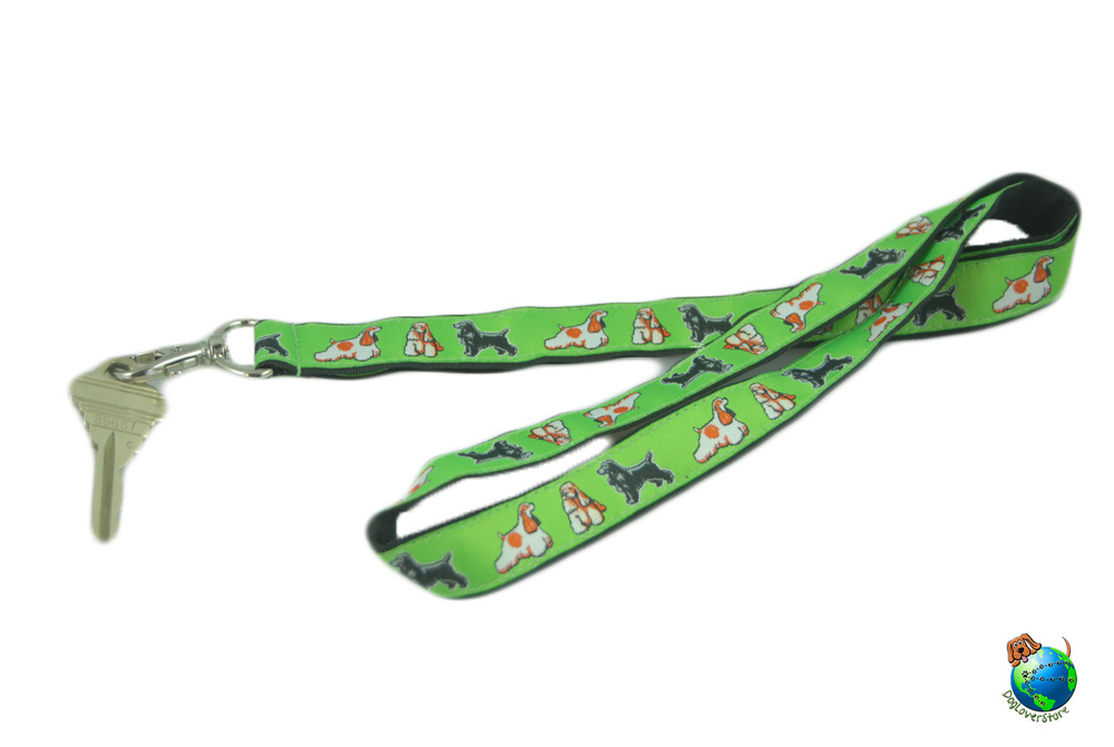 Cocker Spaniel Lanyard Key Holder Badge Holder