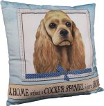 Cocker Spaniel Pillow 16x16 Polyester