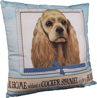 Cocker Spaniel Pillow 16x16 Polyester