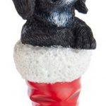 cocker-spaniel-santa-boot-ornament-black
