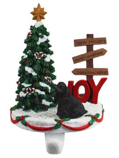 Cocker Spaniel Stocking Holder Hanger Black