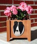 Collie Planter Flower Pot Rough Bi Black