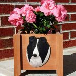 Collie Planter Flower Pot Rough Bi Black 1